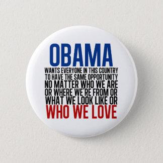 Obama & Equality Pinback Button
