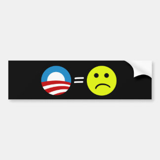 Obama Equals Frowns Bumper Sticker Car Bumper Sticker