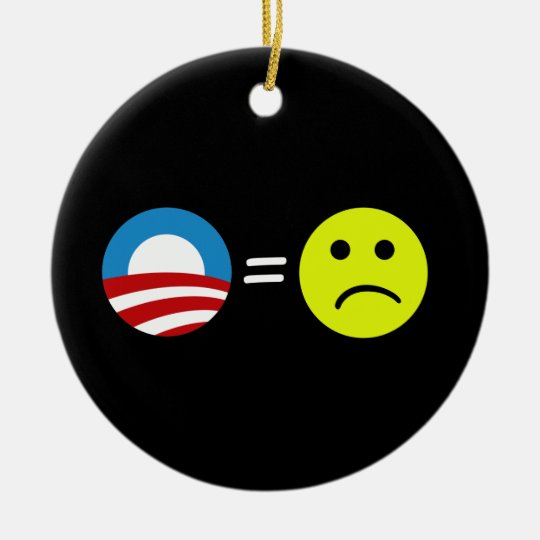 Obama Equals Frowns Ornament