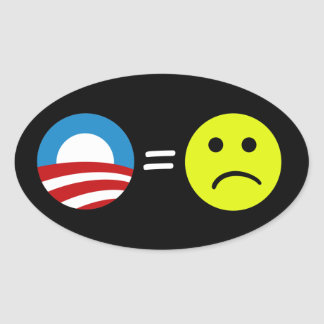 Obama Equals Frowns Stickers