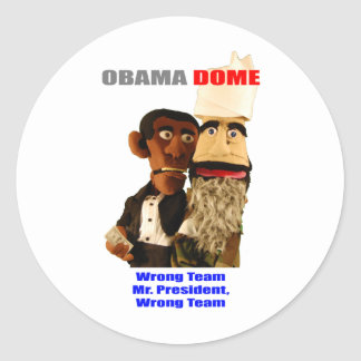 ¡Obama - equipo incorrecto Etiqueta Redonda