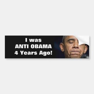 ¡Obama - era Obama anti hace 4 años! Pegatina Para Auto
