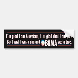 Obama era un árbol pegatina para auto