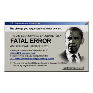 Obama - error no recuperable: Poster de la protest Póster