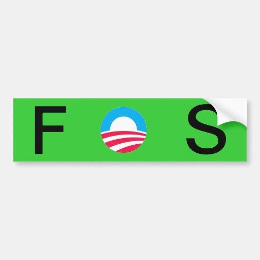 Obama es FOS Etiqueta De Parachoque