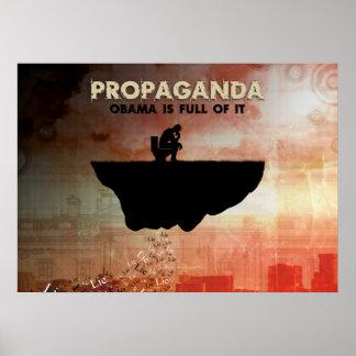 Obama es lleno de propaganda póster