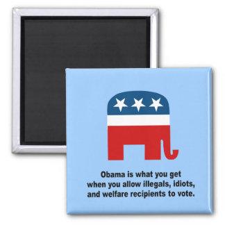 Obama es lo que usted consigue cuándo iman de frigorífico
