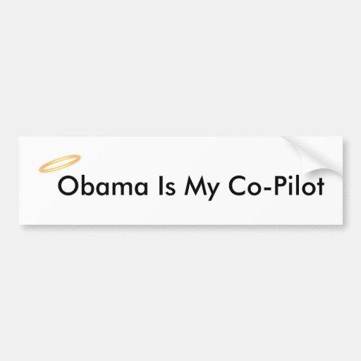 Obama es mi copiloto pegatina de parachoque