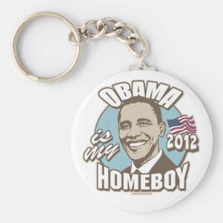 Obama es mi engranaje del Homeboy 2012 Llavero Redondo Tipo Pin