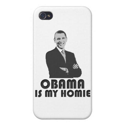 Obama es mi Homie iPhone 4 Fundas