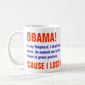 Obama es mi pastor taza