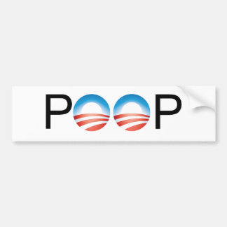 Obama es mierda etiqueta de parachoque