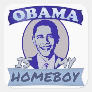 Obama es mis pegatinas del Homeboy