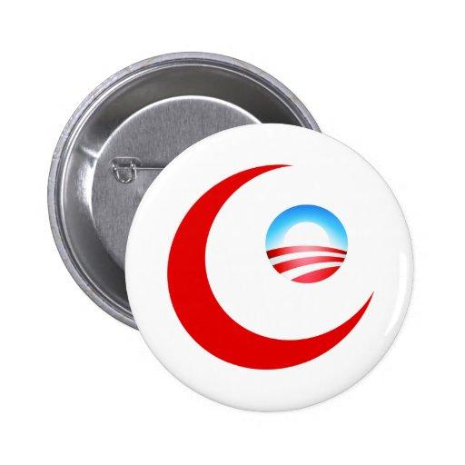 Obama es musulmán pin redondo 5 cm