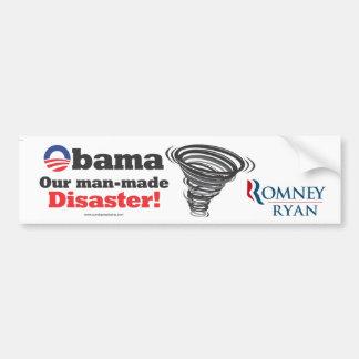 ¡Obama es nuestro desastre provocado por el hombre Pegatina Para Auto