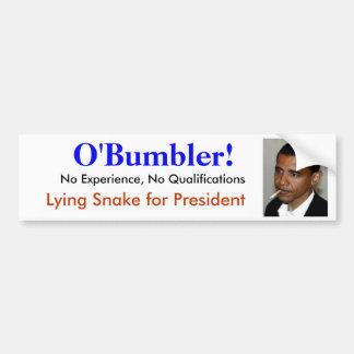 Obama es O bumbler incompetente ningún mentiroso Pegatina De Parachoque