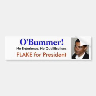 Obama es O bummer - un incompetente ninguna experi Pegatina De Parachoque