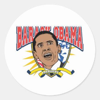 Obama es presidente pegatina redonda