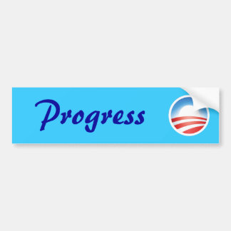Obama es progreso etiqueta de parachoque