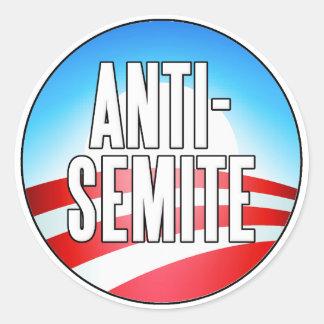 Obama es un antisemita etiquetas redondas