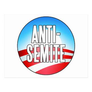 Obama es un antisemita postales