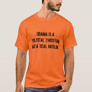 """Obama es un cristiano """"político"""" y """"MU real… Playera"""