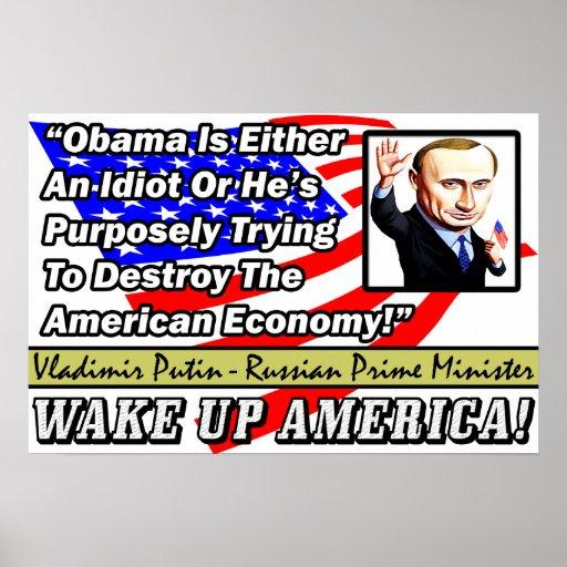 Obama es un idiota: ¡Vladimir Putin! Impresiones