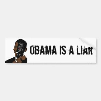 obama es un mentiroso pegatina para auto