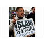 Obama es un musulmán postales