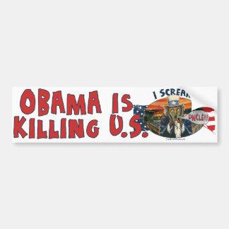 Obama está matando a los E.E.U.U. Pegatina Para Auto