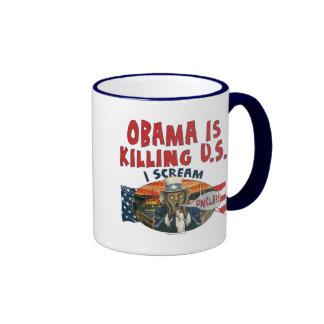Obama está matando a los E.E.U.U. Taza De Dos Colores