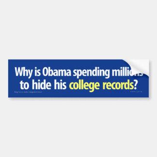 Obama está ocultando a su pegatina para el paracho pegatina para auto