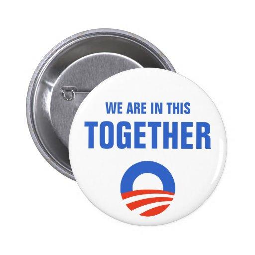 Obama estamos en esto juntos abotonamos pins