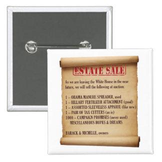 Obama Estate Sale Pinback Button