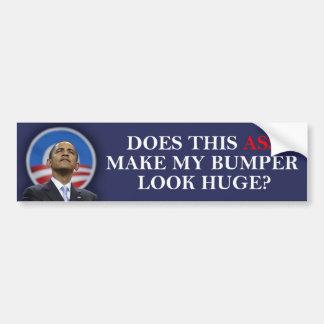 ¿Obama - este asno hace mi mirada de parachoques e Pegatina Para Auto