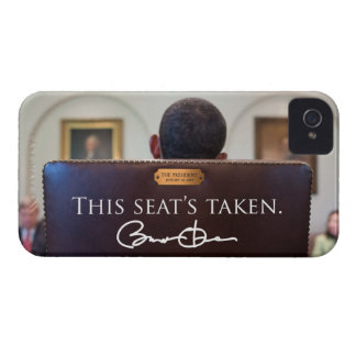 """OBAMA: """"Este Seat tomado"""" el caso del iPhone 4 iPhone 4 Case-Mate Protectores"""