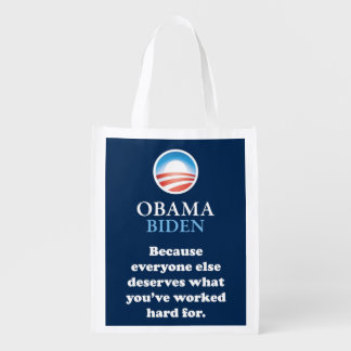 OBAMA EVERYONE ELSE REUSABLE GROCERY BAGS