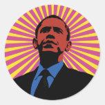 Obama experimentó pegatina redonda