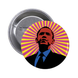 Obama experimentó pin redondo 5 cm