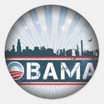 Obama Fade to Black Round Stickers