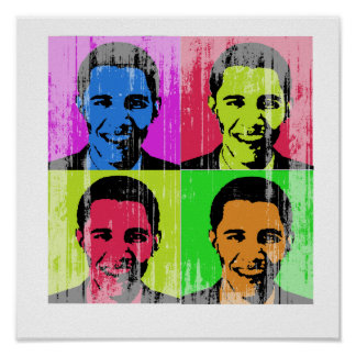 Obama Faded.png Print