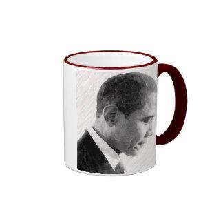 OBAMA FADED RINGER COFFEE MUG