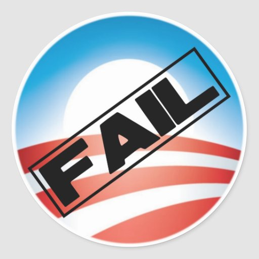 Obama: Fail Classic Round Sticker