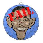 Obama FAIL Dartboard With Darts