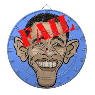 Obama FAIL Dartboard With Darts