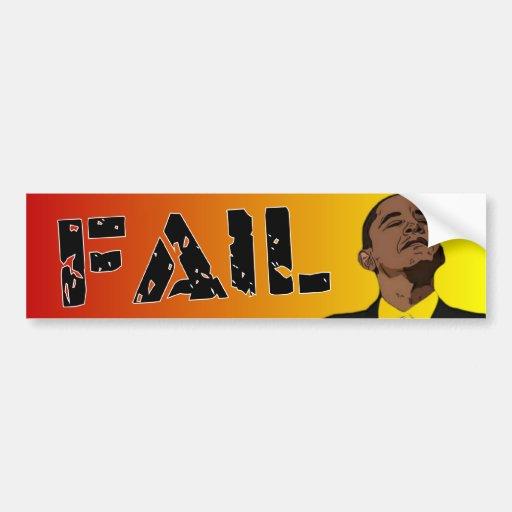 Obama: Fall Etiqueta De Parachoque