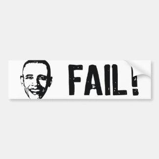 ¡Obama, fall! Pegatina para el parachoques Etiqueta De Parachoque