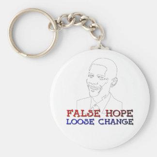 Obama false hope loose change basic round button keychain