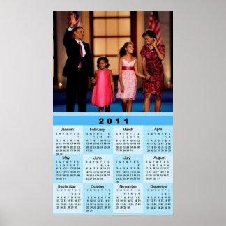 Obama Family, 2011 Calendar 2 Poster