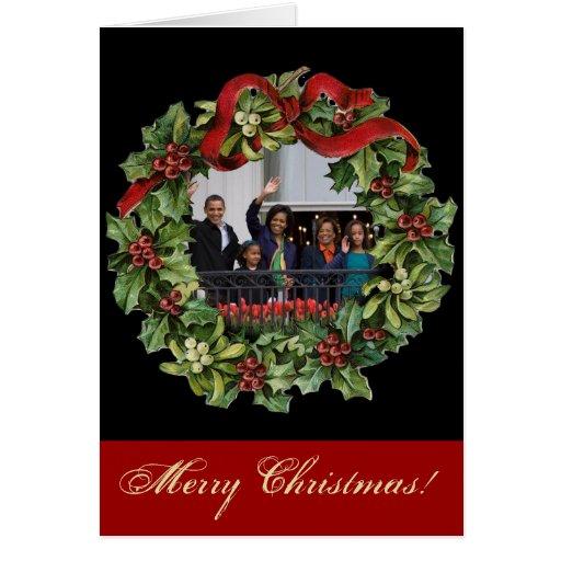 Obama Family Christmas Cards